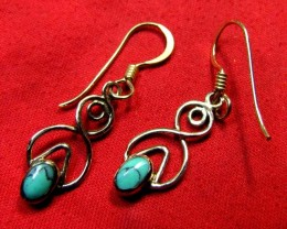 BRONZE TURQUOISE EARRINGS RT 278