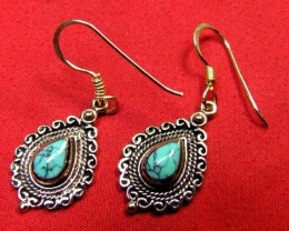 BRONZE TURQUOISE EARRINGS RT 281
