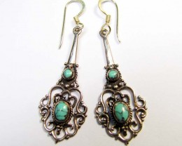 BRONZE TURQUOISE EARRINGS RT 322