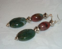 INDIAN AGATE ONYX DANGLE EARRINGS