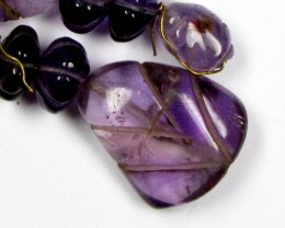 MOHAN DESIGN EARRINGS AMETHYST DROPS  0682