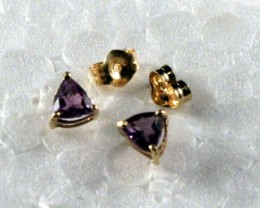 Beautiful 10k Y/ Gold Earring with Amethyst TC-GE 04