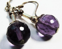13.1 Cts Amethyst Pair Earrings HS1351