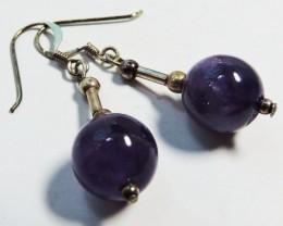 18.9 Cts Amethyst Pair Earrings HS1353