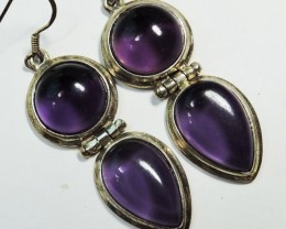 48 CtsDual  Amethyst Pair Earrings HS1354