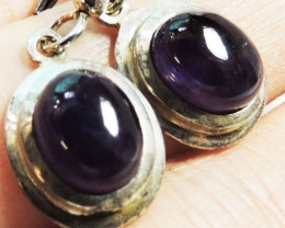 19.55 Cts Amethyst Pair Earrings HS1355