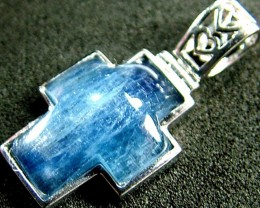 KYANITE CROSS PENDANT -SILVER  14.3 CTS [GT492 ]