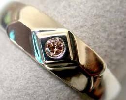 CONGAC DIAMOND 18K WHITE GOLD RING SIZE 6 K58