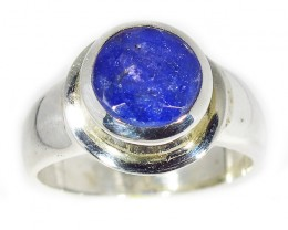 9.5 RING SIZE TANZANITE SILVER RING -FACETED [SJ2940]SH