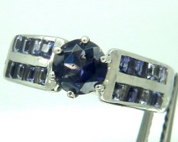 TANZANITE  SILVER RING 20.60  CTS  SIZE-6.5    RJ-89