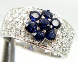 TANZANITE SILVER RING 34.80  CTS  SIZE-7.5   RJ-237