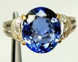 TANZANITE GOLD RING   23.5  CTS  PI-3