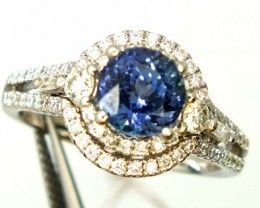 TANZANITE WHITE GOLD RING  29.0 CTS  PI-4