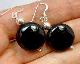 BLACK ONYX EARRINGS  RT 1203