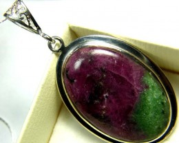 RUBY ZOISITE PENDANT 56 CTS AS-A5123