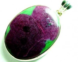 RUBY ZIOSITE SILVER PENDANT 90 CTS  SG-2199