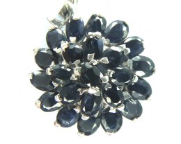 BLUE SAPPHIRE SET IN 925 STERLING SILVER 15CT RJ-197
