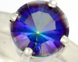 RING SIZE MYSTIC QUARTZ SILVER -FACTORY DIRECT [SJ4211]