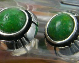 TRADE DEAL 3  GREEN TURQUOISE   SILVER EARRINGS  MYT 228