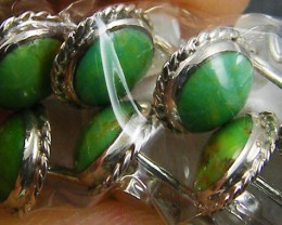 TRADE DEAL 5 GREEN TURQUOISE   SILVER EARRINGS  MYT 260