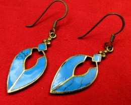 HOWLITE BRONZE EARRINGS RT 257