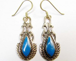 DYED HOWLITE BRONZE EARRINGS RT 318