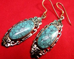 DYED HOWLITE BRONZE EARRINGS RT 319