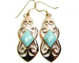 DYED HOWLITE BRONZE EARRINGS RT 327