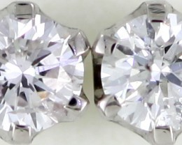 Australian 9ct  Gold Classic Diamond Earrings .35 ct  JAO 29