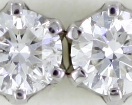 Australian 9ct  Gold Classic Diamond Earrings .30 ct  JAO 32