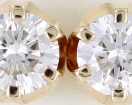 FREE SHIP Australian 9ct  Gold Classic Diamond Earrings .35 ct  JAO 33