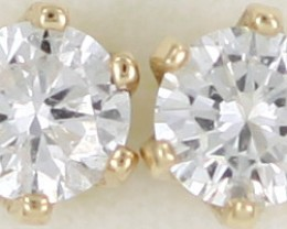 Australian 9ct  Gold Classic Diamond Earrings .15 ct  JAO 37