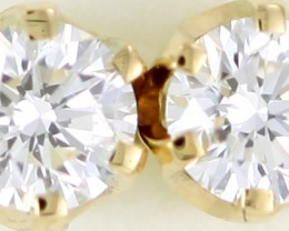 Australian 9ct  Gold Classic Diamond Earrings .50 ct  JAO 38