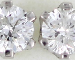 Australian 9ct  Gold Classic Diamond Earrings .15 ct  JAO 46