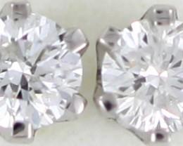 Australian 9ct  Gold Classic Diamond Earrings .15 ct  JAO 46