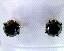 BLACK DIAMOND EARRINGS 14K  CTS  SG-2128