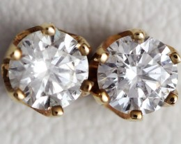 Australian 9ct  Gold Classic Diamond Earrings .30 ct  JAO 34