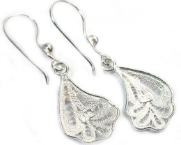 UNIQUE FILIGREE SILVER EARRINGS 13.80 CTS [SJ1300]