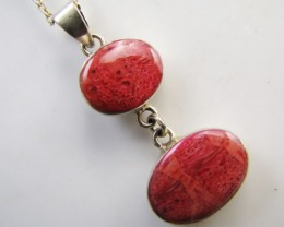 23 CTS dual Coral Pendant  MJA 1040