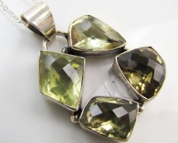 80 Cts CUSTER  Bright Citrine set in silver  MJA 1174