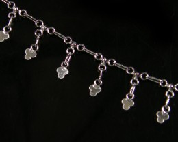 SILVER ANKLET   925  CHAIN  10  INCHES  /  25 CM  CMT 114