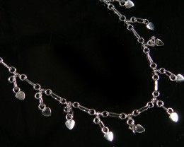 SILVER ANKLET   925  CHAIN  10  INCHES  /  25 CM  CMT 128
