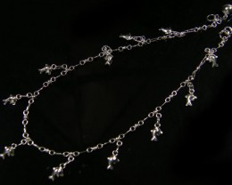 DOLPHIN CHARM ANKLET SILVER 925 CHAIN  27CM  CMT 184