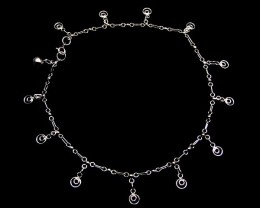 CIRCLE CHARM ANKLET SILVER 925 CMT 122