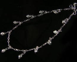 LOVE HEART CHARM ANKLET SILVER 925 CMT 124