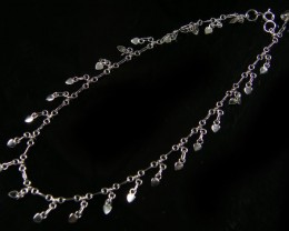 LOVE HEART CHARM SILVER ANKLET 925  CMT 194