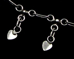 LOVE HEART CHARM SILVER ANKLET 925  CMT 195