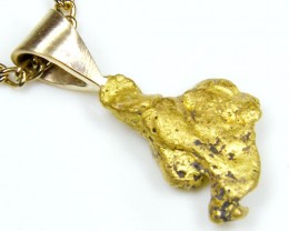 GOLD NUGGET PENDANT 2.02  GRAMS LGN 820