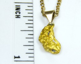 GOLD NUGGET PENDANT 1.83  GRAMS LGN 821