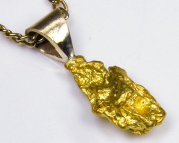 GOLD NUGGET PENDANT  1.67  GRAMS LGN 822